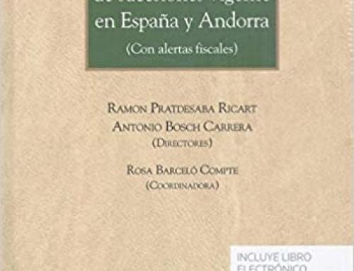 Tratado del Derecho de sucesiones vigente en España y Andorra